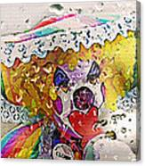 Rainy Day Clown Canvas Print