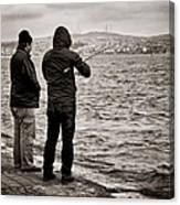 Rainy Day Fishing Canvas Print