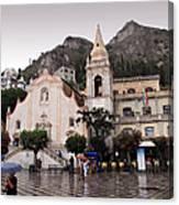 Rainy Day In Taormina Canvas Print
