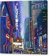 Rainy Reflections In Times Square Canvas Print