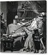 Raleigh Smoking Tobacco, 16th Century Canvas Print