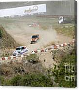 Rally Racing Excitement Canvas Print