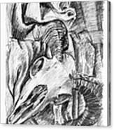 Ram Skull Still-life Canvas Print