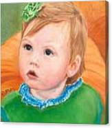 Ramey Kate In The Pumpkin Patch Canvas Print