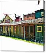 Ranch Buildings - White Canvas Print