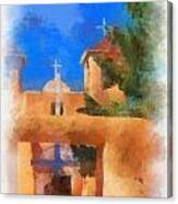Ranchos Church Gate - Aquarell Canvas Print