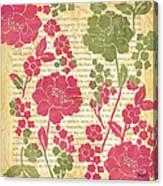 Raspberry Sorbet Floral 2 Canvas Print