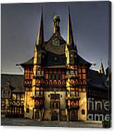 Rathaus At Wernigerode Canvas Print