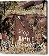Rattlesnake Warning Canvas Print
