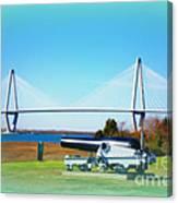 Ravanel Bridge At Patriot Point Charleston Sc Canvas Print