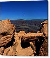 Raven Flying Near Ooh Aah Point Canvas Print