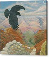Raven Over The South Rim  Canvas Print