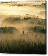 Rays Of Early Morning Sunlight Beam Canvas Print
