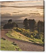 Rays Of Sunlight Over Clent Countryside Canvas Print