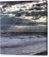 Rays Over The Atlantic Canvas Print