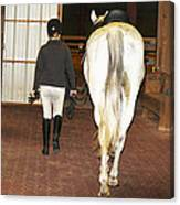 Ready For The Dressage Lesson Canvas Print