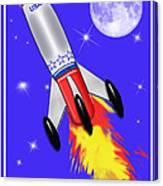 Really Cool Rocket In Space Canvas Print