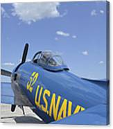 Rear View Of A F8f Bearcat Parked Canvas Print