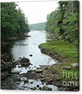 Receding Tide In Maine Part Of A Series Canvas Print