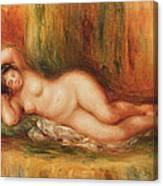 Reclining Bather Canvas Print