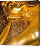 Reclining Buddha At Wat Pho, Low Angle Canvas Print