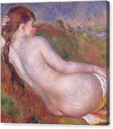 Reclining Nude In A Landscape Canvas Print