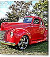 Red 1940 Ford Deluxe Coupe Canvas Print