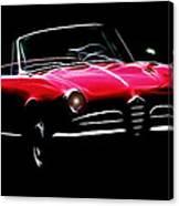 Red Alfa Romeo 1600 Giulia Spider Canvas Print