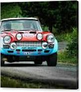 Red And Blue Fiat Abarth Canvas Print