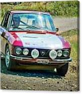 Red And White Lancia Canvas Print