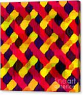 Red And Yellow Basketweave Bias Canvas Print