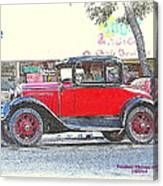 Red Antique Rumble Seater Canvas Print
