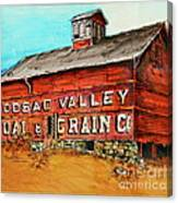 Red Barn Adams Mass Canvas Print