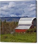 Red Barn With Tin Roof Canvas Print