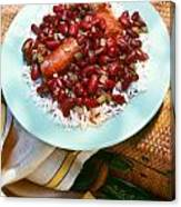Red Beans And Rice Canvas Print