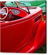 Red Beautiful Car Canvas Print