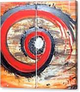 Red-black Swirl Canvas Print