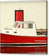 Red Boat Red Door Canvas Print
