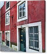 Red Building  Lisboa Portugal Canvas Print