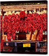 Red Chili Ristra Truck Canvas Print