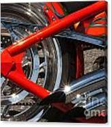 Red Chopper Detail Canvas Print
