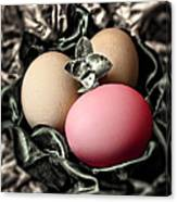 Red Classy Easter Egg Canvas Print