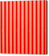 Red Corrugated Metal Canvas Print