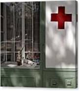 Red Cross. Belgrade. Serbia Canvas Print