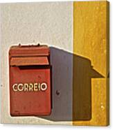 Red Faded Mailbox Of Portugal II Canvas Print
