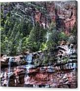 Red Falls Canvas Print