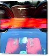 Red Ferrari Engine  Canvas Print