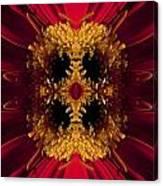 Red Flower Art Canvas Print