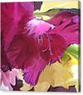 Red Flower In The Abstract Canvas Print