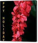 Red Holiday Greeting Card Canvas Print